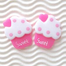 "US SELLER - 12 pc x (1 1/8"") Resin Ice Cream Flatback Beads/Sweet/Cupcake SB531H"