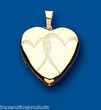 Yellow Gold Heart Locket Two Photograph Hallmarked Double Hearts British Made