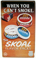 "1995 US Tobacco Skoal Brand Flavor Packs Line Advertising 19.5""t Tin Wall Sign"