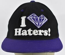 Black I Love Haters DGK Diamond Embroidered Baseball hat cap Adjustable Snapback