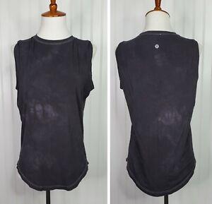 Lululemon Daek Gray Tie Dye Muscle Tank Top Women's Size 4 Loose fit
