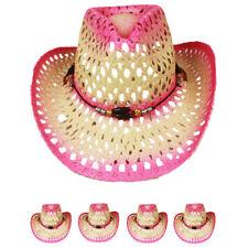 PINK COWBOY Western HAT Cap Cowgirl Raffia Rodeo Cap MEN WOMEN HAT VALENTINES GI