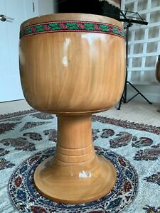 Quality Persian Tonbak Tombak Zarb Drum made from walnut wood and camel skin