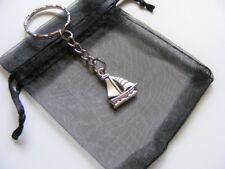 Sailing Boat Keyring Travel Charm Birthday Christmas Present With Gift Bag