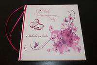 Hardcover Gästebuch zur Hochzeit , fuchsia