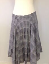 COUNTRY ROAD Grey A-Line Skirt - Size 12 - 100% Cotton