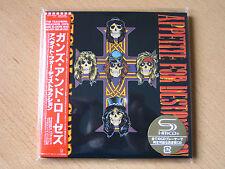 """Guns N 'Roses """"appetite for Destruction"""" Japan mini lp SHM CD + BONUS Sleeve"""