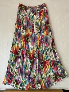 Spense Broomstic small Skirt Boho Modest Long Maxi Watercolor slip inside