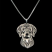 Vizsla Dog Pendant Necklace Silver ANIMAL RESCUE DONATION