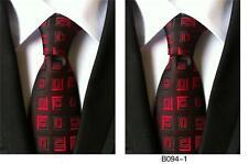 Rouge et noir à motifs fait main 100% Soie Mariage Cravate