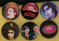(6) Rocky Horror Picture Show Official Movie Vintage Pin Button Pinback 1975