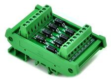 DIN Rail Mount 3 Amp 1000V 8 Individual Diode Module, 1N5408.