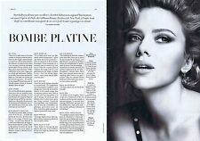 COUPURE DE PRESSE CLIPPING 2014 SCARLETT JOHANSSON  (2 pages)