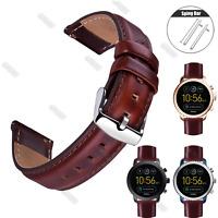 12 13 14 17 18 19 20 22mm Vintage Genuine Leather Wristwatch Band Watch Strap
