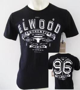 ELWOOD Mens Latest Premium Top Tee T-Shirt Size S M L XL XXL black henleys new