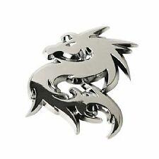 Dragon Chrome Emblem Badge Self Adhesive