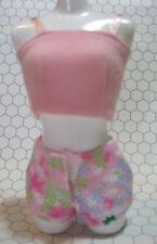 Barbie DOLL LINGERIE Pink Cami-Floral Boy Shorts Clothes pajama slumber OUTFIT