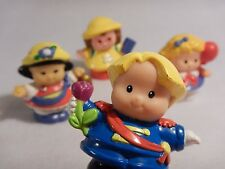 Lot of 4 Fisher Price Little People : 3 Little girls & a little boy with a rose