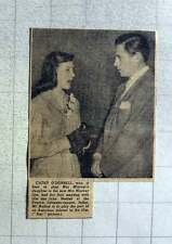 1949 Cathy O'donnell Has First Meeting With John Hodiak At The Empire Leicester