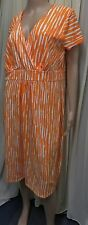 GORGEOUS BODEN ORANGE MIX COTTON DRESS WITH STRETCH SIZE 18 R