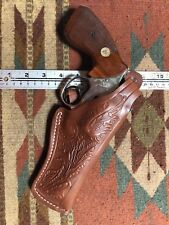 """Fits Smith & Wesson 586 686 66 19 4"""" Barrel Leather Thumb Break Holster"""