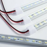 Bright12V-48 LED Strip Light Tube Bar Hard Rigid Lamp White For Car Caravan Home