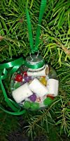 TOILET PAPER SNOW & CANDY CHRISTMAS TREE ORNAMENT HAND CRAFTED