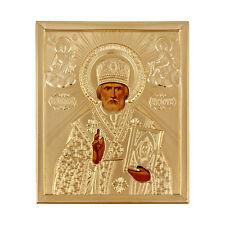 Icone religieuse Saint Nicolas, Icone chrétienne russe Saint Nicolas Cadeau Noel