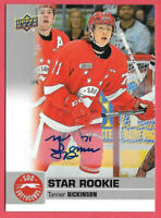 2019-20 Tanner Dickinson Upper Deck CHL Star Rookie Auto - Soo Greyhounds