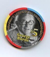$5.00  Chip. Harrah's Prairie Band Casino. Mayetta, KS. George Burns