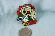HARD ROCK PIN 2009 MIAMI CLASSIC TATTOO # 4 SKULL WITH RECORDS FOR EYES LE 300