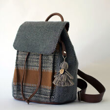 Leather Accented Backpack All Cotton Guatemalan Ecofriendly Ethical Fashion