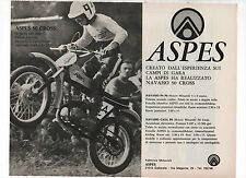 Pubblicità 1972 ASPES NAVAHO 50 CROSS MOTO MOTOR advertising werbung publicitè