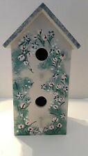 Decorative Bird House - Painted Floral Design - Free Shipping