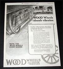 1919 OLD MAGAZINE PRINT AD, WOOD WHEEL ASSOCIATION, INTER-URBAN RAILROAD CARS!
