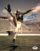JOHNNY LATTNER SIGNED 8x10 PHOTO + HEISMAN + ALL AMERICAN + MAXWELL PSA/DNA