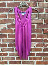Marciano Light Pink Purple Blouse Top Sleeveless Drape XS *Bebe RARE!
