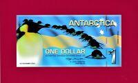ANTARCTICA ONE DOLLAR 2007 MS EXPLORER (November 2007) PENGUIN POLYMER UNC NOTE