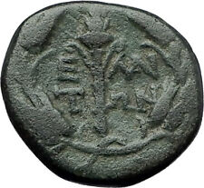 ELAIA in AEOLIS 2-1CentBC Authentic Ancient Greek Coin DEMETER & TORCH  i59618