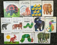 ERIC CARLE 12 BOARD BOOK LOT CHILDRENS PICTURE BOOKS HC FREE SHIPPING