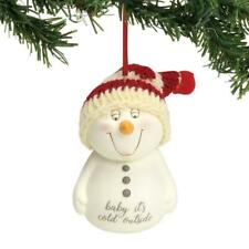 NEW Department 56 Snowpinions Baby It's Cold Outside Christmas Ornament 6001965