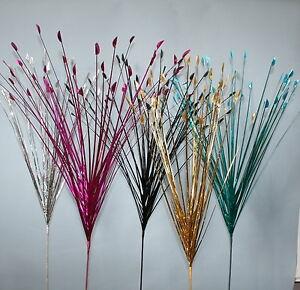 3 X Artificial Spray Grass Stem Flower Arrangement Display - Choice Of Colours.