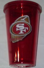 NIP NFL 16 OZ SIP N' GO TRAVEL TUMBLER W/ STRAW - SAN FRANCISCO 49ERS