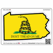 "PA Don't Tread On Me V1 (4"" color: FULL) Full Color Printed Vinyl Window Sticker"