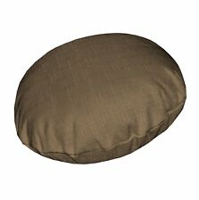 Qh16n Light Gold Brown Thick Cotton Blend Round Cushion Cover/Pillow Case Custom