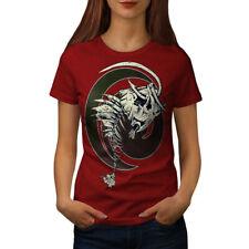 Wellcoda Fish Bone Skeleton Womens T-shirt, Tattoo Casual Design Printed Tee