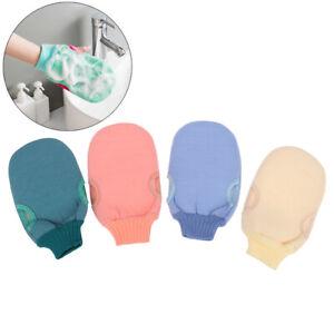 1Pc Shower Spa Exfoliator Double Sided Bath Glove Body Cleansing Scrub Mitt YRZ
