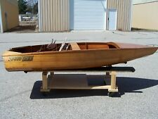 VINTAGE 1950's SPEED LINER CORSAIR RUNABOUT WOODEN BOAT IN BEAUTIFUL CONDITION