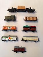 Lima, Piko, etc., Spur N,  8 Güterwagen, ansehen, Schnäppchen !!!