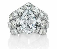 4.55Ct White Pear Cut Diamond Engagement Wedding Certified 14K White Gold Ring